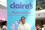 Jacqueline Jossa attends Claire's Back To School Bash, which includes lots of fun activities for the family to enjoy including a LOL Makeover & selfies at the giant Popsockets PopMirror!, at Westfield White City on August 17, 2019 in London, England.