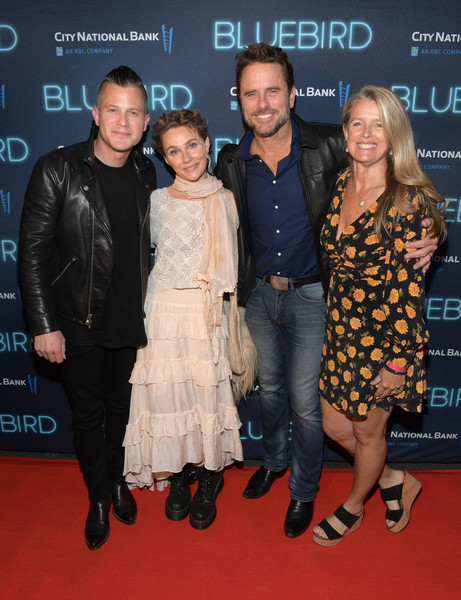 2019 Nashville Film Festival - 'Bluebird' Screening And After Party [carpet,premiere,event,red carpet,fashion,flooring,dress,little black dress,fashion design,nashville,tennessee,nashville film festival,bluebird screening,party,charles esten,clare bowen,brandon robert young,patty hanson]