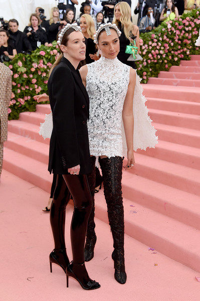 The 2019 Met Gala Celebrating Camp: Notes On Fashion - Arrivals [fashion,red carpet,haute couture,event,carpet,flooring,fashion model,runway,footwear,dress,fashion - arrivals,gal gadot,clare waight keller,notes,fashion,new york city,metropolitan museum of art,met gala celebrating camp]
