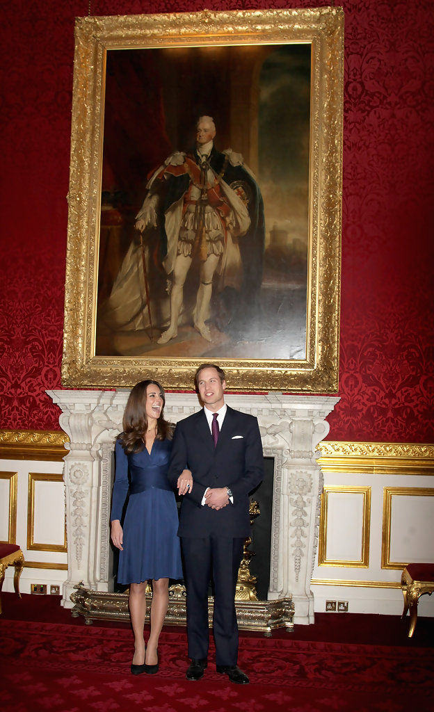 Kate Middleton In Clarence House Announce The Engagement