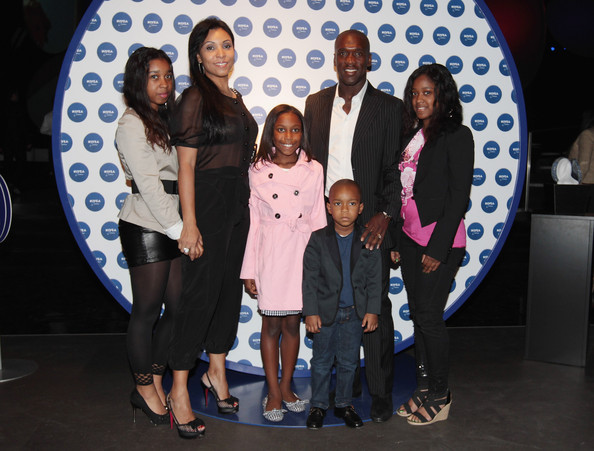 Family photo of the football player, married to Luviana Seedorf, famous for  A.C. Milan & Real Madrid.