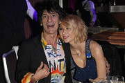 Ronnie Wood from the rock group the Rolling Stones and Ekaterina Ivanova during the Classic Rock Roll Of Honour Awards at the Park Lane Hotel on November 2, 2009 in London, England.