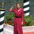 Claudia Gerini Celebrity Excelsior Arrivals During The 77th Venice Film Festival - Day 9