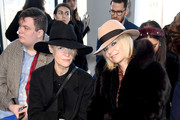 Kate Lanphear and Avril Graham attend the Claudia Li front row during New York Fashion Week: The Shows at Gallery II at Spring Studios on February 10, 2019 in New York City.