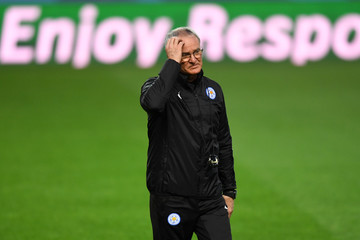 Claudio Ranieri Leicester City Training and Press Conference