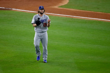 Clayton Kershaw World Series - Los Angeles Dodgers v Houston Astros - Game Five