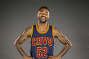 Mo Williams #52 of the Cleveland Cavaliers during the Cleveland Cavaliers media day at Cleveland Clinic Courts on September 28, 2015 in Independence, Ohio.