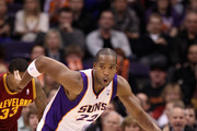 Michael Redd #22 of the Phoenix Suns handles the ball during the NBA game against the Cleveland Cavaliers at US Airways Center on January 12, 2012 in Phoenix, Arizona. The Cavaliers defeated the Suns 101-90.  NOTE TO USER: User expressly acknowledges and agrees that, by downloading and or using this photograph, User is consenting to the terms and conditions of the Getty Images License Agreement.