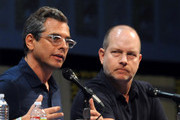 """Writer/producer Rich Appel and actor/producer Mike Henry speak at """"The Cleveland Show"""" Panel during Comic-Con 2011 at the San Diego Convention Center on July 24, 2011 in San Diego, California."""