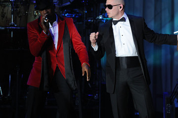Ne-Yo Pitbull Clive Davis And The Recording Academy's 2012 Pre-GRAMMY Gala And Salute To Industry Icons Honoring Richard Branson - Show