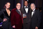 Recording artist Alicia Keys, host Clive Davis, Honoree Jay-Z, and Recording Academy and MusiCares President/CEO Neil Portnow attend the Clive Davis and Recording Academy Pre-GRAMMY Gala and GRAMMY Salute to Industry Icons Honoring Jay-Z on January 27, 2018 in New York City.