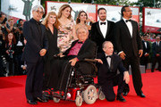 (L-R) International jury members Japanese composer, musician and producer Ryuichi Sakamoto, British director Andrea Arnold, German actress Martina Gedeck, French actress Virginie Ledoyen, Chilean director, screenwriter and producer Pablo Larrain, Chinese actor and director Jiang Wen, Italian director and president of the jury Bernardo Bertolucci and Swiss French director of photography Renato Berta attend the Closing Ceremony during the 70th Venice International Film Festival at the Palazzo del Cinema on September 7, 2013 in Venice, Italy.