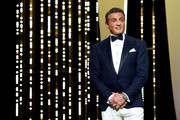 Sylvester Stallone on stage at the Closing Ceremony during the 72nd annual Cannes Film Festival on May 25, 2019 in Cannes, France.