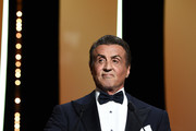 Sylvester Stallone presents the Grand Prix Award at the Closing Ceremony during the 72nd annual Cannes Film Festival on May 25, 2019 in Cannes, France.