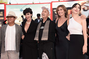 Fruit Chan, Paz Vega; Jonathan Demme, Alix Delaporte and Anita Caprioli attend the closing ceremony and premiere of 'Lao Pao Er' during the 72nd Venice Film Festival on September 12, 2015 in Venice, Italy.