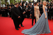 """Offcial Jury Members Guillermo del Toro, Jake Gyllenhaal, Joel Coen, Sophie Marceau and Sienna Miller attend the closing ceremony and Premiere of """"La Glace Et Le Ciel"""" (""""Ice And The Sky"""") during the 68th annual Cannes Film Festival on May 24, 2015 in Cannes, France."""