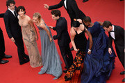 "Joel Coen, Sophie Marceau, Sienna Miller, Xavier Dolan,  Rossy de Palma, Rokia Traore and Ethan Coen attend the closing ceremony and Premiere of ""La Glace Et Le Ciel"" (""Ice And The Sky"") during the 68th annual Cannes Film Festival on May 24, 2015 in Cannes, France."