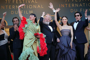 "(L-R) Mariela Besuievsky, Jordi Molla, Rossy de Palma, Terry Gilliam, Stellan Skarsgard, Olga Kurylenko and Adam Driver attend the Closing Ceremony & screening of ""The Man Who Killed Don Quixote"" during the 71st annual Cannes Film Festival at Palais des Festivals on May 19, 2018 in Cannes, France."
