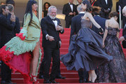 "Jordi Molla, Rossy de Palma, Terry Gilliam and Olga Kurylenko attends the screening of  ""The Man Who Killed Don Quixote"" and the Closing Ceremony during the 71st annual Cannes Film Festival at Palais des Festivals on May 19, 2018 in Cannes, France."
