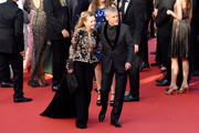 "Caroline Scheufele and Christoph Waltz attend the closing ceremony screening of ""The Specials"" during the 72nd annual Cannes Film Festival on May 25, 2019 in Cannes, France."