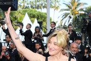 """Valeria Bruni Tedeschi attends the closing ceremony screening of """"The Specials"""" during the 72nd annual Cannes Film Festival on May 25, 2019 in Cannes, France."""