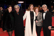 (L-R) Jury members Adele Romanski, Chema Prado, Cecile de France, Stephanie Zacharek and Ryuichi Sakamoto attend the closing ceremony during the 68th Berlinale International Film Festival Berlin at Berlinale Palast on February 24, 2018 in Berlin, Germany.