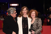 (L-R) Jury members Chema Prado, Cecile de France and Stephanie Zacharek attend the closing ceremony during the 68th Berlinale International Film Festival Berlin at Berlinale Palast on February 24, 2018 in Berlin, Germany.