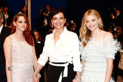 (L-R) Kristen Stewart, Juliette Binoche and Chloe Grace Moretz leave the 'Clouds Of Sils Maria' premiere during the 67th Annual Cannes Film Festival on May 23, 2014 in Cannes, France.