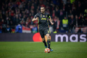 Giorgio Chiellini of Juventus controls the ball during the UEFA Champions League Round of 16 First Leg match between Club Atletico de Madrid and Juventus at Estadio Wanda Metropolitano on February 20, 2019 in Madrid, Spain.