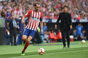 Diego Godin of Club Atletico de Madrid in action  during the La Liga match between  Club Atletico de Madrid and Sevilla FC at Wanda Metropolitano on May 12, 2019 in Madrid, Spain.