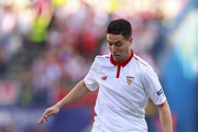 Samir Nasri of Sevilla FC controls the ball during the La Liga match between Club Atletico de Madrid and Sevilla FC at Vicente Calderon stadium on March 19, 2017 in Madrid, Spain.