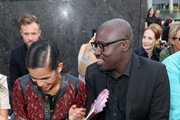 Ramla Ali and Edward Enninful attend the front row for Coach 1941 during New York Fashion Week on September 10, 2019 in New York City.