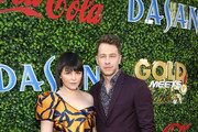 Ginnifer Goodwin (L) and Josh Dallas attend GOLD MEETS GOLDEN 2020, presented by Coca-Cola, BMW Beverly Hills And FASHWIRE, and hosted by Nicole Kidman and Nadia Comaneci, At The Virginia Robinson Gardens And Estate on January 04, 2020 in Beverly Hills, California.