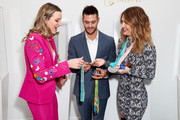"""(L-R) Cassie Sharpe, David Boudia and Amy Purdy attend The 6th Annual """"Gold Meets Golden"""" Brunch, hosted by Nicole Kidman and Nadia Comaneci and presented by Coca-Cola at The House on Sunset on January 5, 2019 in West Hollywood, California."""
