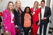 """(L-R) Cassie Sharpe, Nicole Kidman, Octavia Spencer, Missy Franklin and Mac Bohonnon attend The 6th Annual """"Gold Meets Golden"""" Brunch, hosted by Nicole Kidman and Nadia Comaneci and presented by Coca-Cola at The House on Sunset on January 5, 2019 in West Hollywood, California."""