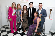 """(L-R) Cassie Sharpe, Amy Purdy, Maia Shibutani, Alex Shibutani, Tatyana McFadden and David Boudia attend The 6th Annual """"Gold Meets Golden"""" Brunch, hosted by Nicole Kidman and Nadia Comaneci and presented by Coca-Cola at The House on Sunset on January 5, 2019 in West Hollywood, California."""