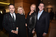 David Furnish, Judith Light, Sandra Lee and Stephen Flynn attend a cocktail party hosted by the Elton John AIDS Foundation and BBVA Compass to celebrate EJAF, the 90th Academy Awards, and to honor Chef Joan Roca on March 2, 2018 in Beverly Hills, California.