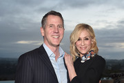 Stephen Flynn and Judith Light attend a cocktail party hosted by the Elton John AIDS Foundation and BBVA Compass to celebrate EJAF, the 90th Academy Awards, and to honor Chef Joan Roca on March 2, 2018 in Beverly Hills, California.
