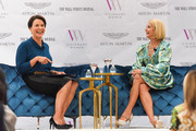 Giselle Fernández and Candace Bushnell attend cocktails and conversation with Candace Bushnell: Is The Sex In The City? on October 02, 2019 in Los Angeles, California.