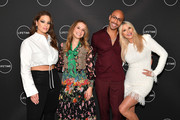 "(L-R) Ashley Graham, Leah Wyar, Sir John, and Christie Brinkley attend Cocktails and a Conversation with the Stars of Lifetime's ""American Beauty Star"" featuring host and executive producer Ashley Graham, mentor Sir John and judges Christie Brinkley and Leah Wyar on January 17, 2019 in New York City."