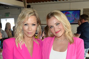(L-R) Jennie Garth and Emily Osment attend Cold Stone Creamery Backstage at 2019 Teen Choice Awards on August 11, 2019 in Hermosa Beach, California.