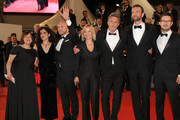 "Producer Ewa Puszczynska, producer Tanya Seghatchian, actor Borys Szyc, actress Joanna Kulig, director Pawel Pawlikowski, actor Tomasz Kot and guest attend the screening of ""Cold War (Zimna Wojna)"" during the 71st annual Cannes Film Festival at Palais des Festivals on May 10, 2018 in Cannes, France."
