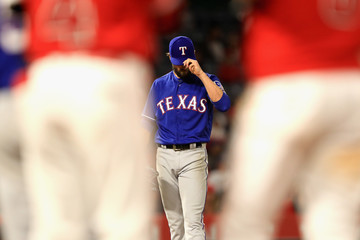 Cole Hamels Texas Rangers v Los Angeles Angels of Anaheim