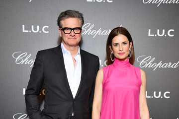 Colin Firth Livia Giuggioli Chopard And Annabel's Host The Gentleman's Evening At The Hotel Martinez - 72th Cannes Film Festival