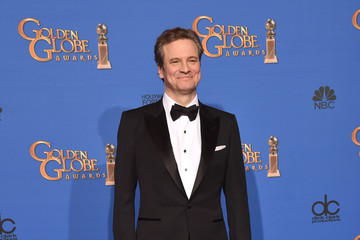 Colin Firth Golden Globes Press Room