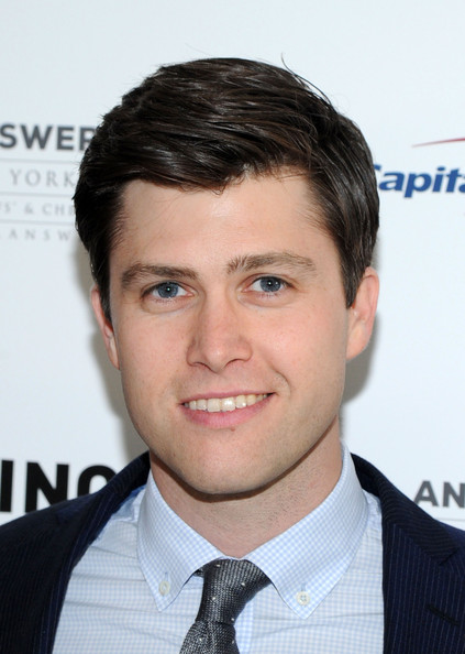 The 35-year old son of father (?) and mother erry Kelly, 166 cm tall Colin Jost in 2018 photo