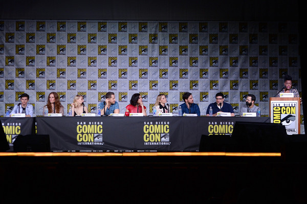 Comic-Con International 2016 - 'Once Upon A Time' Panel [once upon a time,stage equipment,event,news conference,convention,world,yvette nicole brown,actors,writer/producers,jared gilmore,rebecca mader,l-r,san diego convention center,panel,comic-con international]
