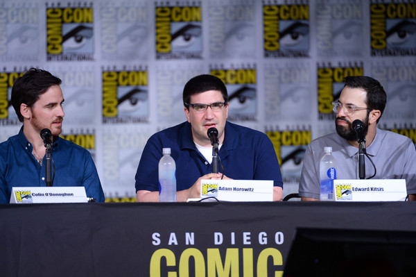 Comic-Con International 2016 - 'Once Upon A Time' Panel [once upon a time,event,news conference,sky,convention,comics,fiction,media,spokesperson,world,book,colin odonoghue,writer/producers,edward kitsis,adam horowitz,l-r,san diego convention center,panel,panel,comic-con international]