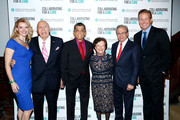 (L-R) Andrea Powell, Arthur Imperatore Sr., Tadashi Shoji, Ruth Finley, Samuel Waxman and Chris Wragge attend Collaborating For A Cure 16th annual benefit dinner and auction at Park Avenue Armory on November 21, 2013 in New York City.
