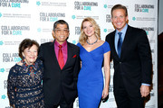 (L-R) Ruth Finley, Tadashi Shoji, Andrea Powell and Chris Wragge attend Collaborating For A Cure 16th annual benefit dinner and auction at Park Avenue Armory on November 21, 2013 in New York City.